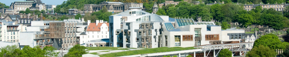 View of Scottish parliament in Edinburgh